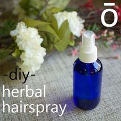 Making your own herbal hair spray is easy with essential oils! I can't wait to try this!.