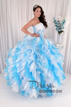 Quinceanera Dress #80124 | Skirts, Black and blue and Cheetahs