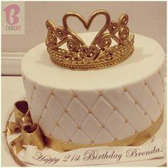 Princess Tiara Cake Alledible Sugartiara Storkbaby