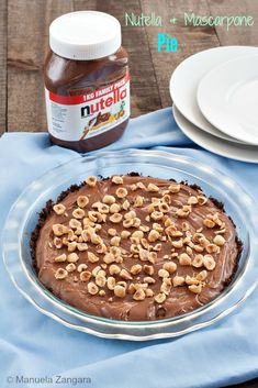 The #recipe that all chocoholics should have handy: #Nutella and #Mascarpone #Pie!