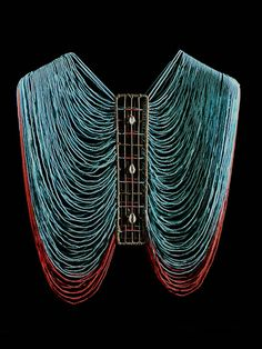 Africa | Pre Bridal Beaded Female Corset. Dinka tribe, Sudan