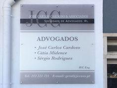 JCC e Associados placa advogados de acrílico