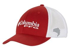 PFG Mesh Ball Cap in Sail Red by Columbia
