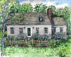 SPRING SALE House Portraits in Pen&Ink and by HousePortraits