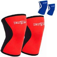 BeSmart Knee Caps KneeCap Support Knee Sleeve Brace Weight Lifting Sleeves PAIR #BeSmart