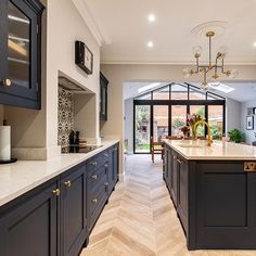 Elegant Kitchen Design Ideas For A Family Home Design To Try Kitchen Room Design, Home Decor Kitchen, Interior Design Kitchen, Home Kitchens, Kitchen Ideas, Bungalow Kitchen, Diy Kitchen, Open Plan Kitchen Dining Living, Open Plan Kitchen Diner