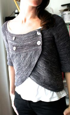 Knitting Pattern Shift and Focus Cardigan