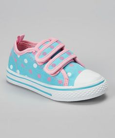 Loving this Turquoise Polka Dot Sneaker on #zulily! #zulilyfinds