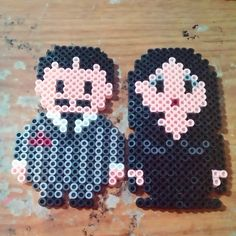 Gomez and Morticia - Addams Family perler beads by deathmaustudios