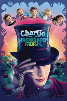 Charlie and the Chocolate Factory - Starring: Johnny Depp, Freddie Highmore, David Kelly Streaming Movies, Hd Movies, Movies Online, Movies And Tv Shows, Movie Tv, Hd Streaming, Real Movies, Movies Free, Willy Wonka