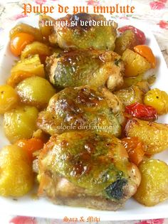 Cotlete de porc in sos aromat cu rozmarinCulorile din Farfurie Jamie Oliver, Sprouts, Cake Recipes, Vegetables, Ethnic Recipes, Sweet, Mad, Cheese, Blue Prints