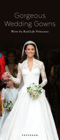 If you're looking for wedding princess inspiration, take it from these real-life princesses.