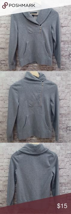 VANS FRONT ZIP GRAY PULLOVER SWEATER  S VANS front zip gray pullover sweater. Good condition normal signs of wear.  Size Small Material: Cotton/Polyester blend FAST SHIPPING!! Vans Sweaters