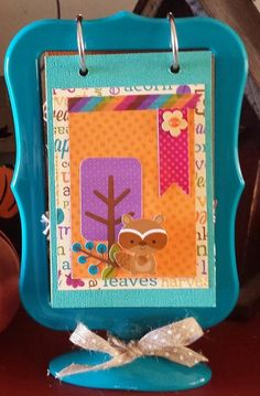 Doodlebug Design Inc Blog: Friendly Forest Flip Frame Mini Album by Tya