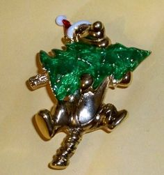 Disney Gold Disney Designs Tigger Bringing Home the Christmas Tree Brooch Pin NEW! by Disney. $14.99