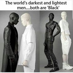 Papis Loveday and Shaun Ross (albino) - The lightest and darkest skin color. Photos by Rebecca Litchfield. Shaun Ross, Memes Arte, Funny Memes, Jokes, Wtf Fun Facts, The More You Know, Faith In Humanity, History Facts, Black Is Beautiful