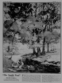 """""""The Sunlit Pool,"""" New-York Tribune (New York, NY), December page Library of Congress, Chronicling America: Historic American Newspapers. Library Of Congress, Coloring Books, Art Drawings, December, York, American, Painting, Painting Art, Paintings"""