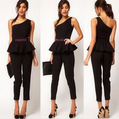 Sexy+Elastic+Waist+Black+One+Shoulder+Peplum+Top+Jumpsuit+is+beautifully+designed+with+flower+beads+elastic+waist+with+a+very+sexy+one+shoulder+.+This+women+jumpsuit++is+a+perfect+outfit+in+any+occasions.+You'll+love+it+very+much.    Additional+features:  -100%+Brandnew,+Excellent+Quality,+Fashio...