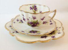 royal albert violet chintz trio   Taking Tea Together on Tuesday! 2/5/13