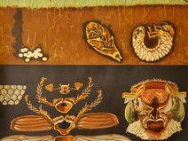 Schulkarte/Wandkarte 60er vintage: Der Maikäfer