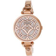 nice Montre pour femme : Fossil Women's Georgia ES3422 Rose-Goldtone Stainless Steel Quartz Watch | O...