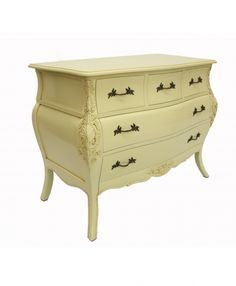 Large View of 'Bordeau' 6 Drawer Bombe Chest Ivory