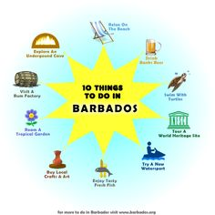 We love this selection of 10 Things To Do in Barbados!