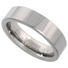 Tungsten Carbide 6 mm Comfort fit Flat Wedding Band Ring Mirror Finish, sizes 5-12  $wedding events$  http://j.mp/UKpKLq
