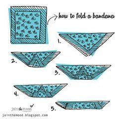 For bandana hairstyles. How to fold a bandana