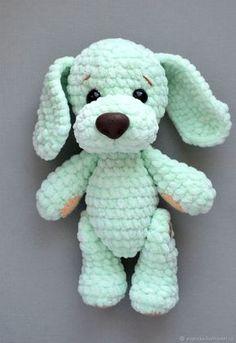 15 easy DIY knitting ideas - Page 4 of 16 Crochet dog crochet DIY knitting idea details. Crochet Simple, Cute Crochet, Crochet Crafts, Crochet Projects, Dog Crochet, Crochet Ideas, Simple Knitting, Diy Crafts, Creative Knitting