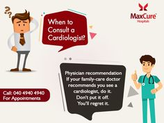Want to Consult a Cardiologist? For Appointment Call: 040 4940 4940 Visit: https://maxcurehospitals.com/ #MaxCureHospitals #MaxCure #Cardiology #Cardiologist #FamilyCareDoctors #ConsultExperts #ConsultOurDoctors #Hyderabad