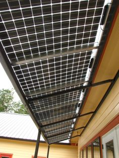 Solar panels awninig - Steely Residence   Energy Design