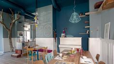 Interior designer Tommaso Guerra has designed a cat cafe named Romeow Cat Bistrot, located in Rome, Italy. Restaurant Interior Design, Commercial Interior Design, Commercial Interiors, Bureau Design, Cool Cafe, Minimalist Furniture, Piece A Vivre, Cat Friendly Home, Lounge Areas