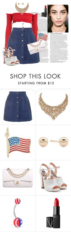 """98"" by jule-8 ❤ liked on Polyvore featuring ASOS, Motel, Rembrandt Charms, Chanel, Rochas, Bling Jewelry and NARS Cosmetics"