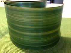 Aspidatra Leaf  Ribbon Dark Green  28 yards. $42.00, via Etsy.
