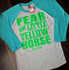 Fear the LIttle Yellow Horse(Turq BBT/Lime)0 - Ranch Dress'n