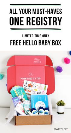 You can add anything to your baby registry with Babylist. Literally anything - even Etsy items, baby sitting, or home-cooked meals! It's easy, beautiful & free. Babylist works just like Pinterest. Simple enough for the grandparents-to-be too. For a limited time get a free Hello Baby Box.