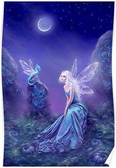 Luminescent Fairy & Dragon Art Posters