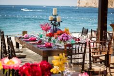 I would like it a little more elegant, but i like the wood and colors, beach Venue Ideas Wedding Reception Photos on WeddingWire