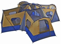 Shop the latest collection of fortunershop Family Cabin Tent 14 Person Base Camp 4 Rooms Hiking Camping Shelter Outdoor from the most popular stores - all in one place. Diy Camping, Camping World, Camping And Hiking, Camping Life, Tent Camping, Camping Ideas, Family Tent, Family Camping, 12 Person Tent