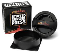 Grillaholics Stuffed Burger Press and Recipe eBook - Extended Warranty - Hamburger Patty Maker for Grilling - BBQ Grill Accessories -- Check out this great product. (This is an affiliate link) Texas Roadhouse Steak Seasoning, Bbq Grill, Grilling, Grill Pan, Hamburger Patties, Amazon Sale, Grill Accessories, Kitchen Accessories, Good Burger