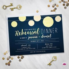 Below the Stars  Rehearsal Dinner Invitation by EventswithGrace