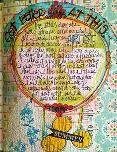 Visual Journal, Art Journal, Being an Artist | Flickr - Photo Sharing!