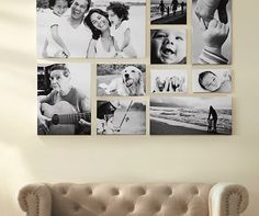 Love the way these photos are arranged. DIY canvas ideas