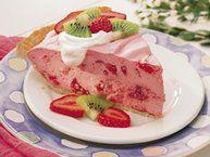 Fluffy Strawberry Pie with Pretzel Crust Recipe from Betty Crocker