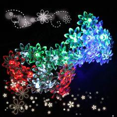 30LED Colorful Solar Flower Lotus String Light Christmas Gift Decor