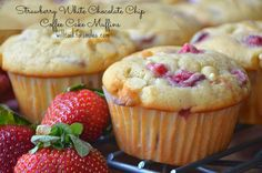 Strawberry- White Chocolate Chip Coffee Cake Muffins!  YUMMY!!!! Came out so moist and delicious.  Family approved! SMG