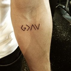 God is greater than the highs and lows. Tattoo.