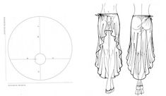 The best DIY projects & DIY ideas and tutorials: sewing, paper craft, DIY.Hi-lo skirt pattern without instructions. Easy enough to figure out what to do. Nice to have the visual guide. Diy Clothing, Sewing Clothes, Clothing Patterns, Sewing Patterns, Sewing Hacks, Sewing Tutorials, Sewing Crafts, Sewing Projects, Techniques Couture