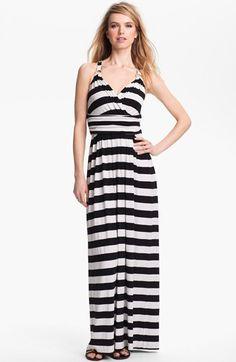 Vince Camuto Stripe Halter Maxi Dress | Nordstrom